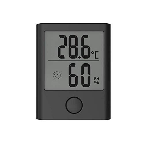 Kyhon Mini Digitales Thermo Hygrometer Innen Thermometer Hygrometer Digital Temperatur und Feuchtigkeitsmesser mit LCD-Display und Gesichtssymbolen, Überwachung von Temperatur und für den Heim