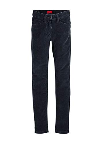 s.Oliver RED LABEL Mädchen Skinny Suri: Cordhose night blue 152.SLIM
