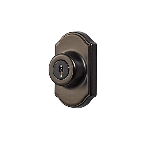 Ideal Security Inc. SK703ORB DX Keyed Deadbolt for Storm and Screen Doors Easy to Install, Oil Rubbed Bronze