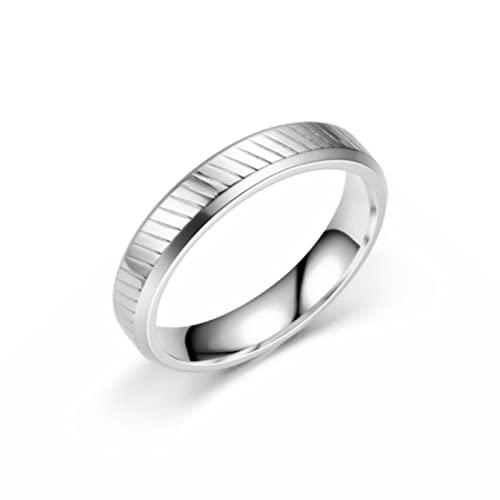 Aeici Alianzas De Matrimonio 8MM Brillante, Anillos Acero Mujer para Hombres Mujeres (Talla 17)