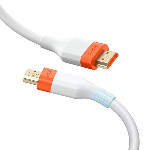 Eono by Amazon- HDMI Kabel 3Meter, 4K HDMI 2.0 Kabel(Vergoldete Stecker und Metall-Abschirmung) Unterstützt 18Gbit/s, 4K@60 Hz - Weiß