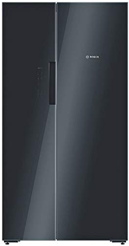 Bosch 655 L Frost Free Side-by-Side Refrigerator(KAN92LB35I, Black, Inverter Compressor)