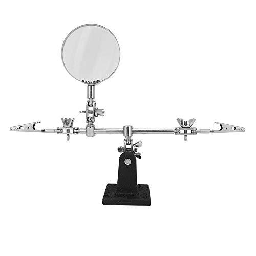 Metalen Soldeerstation Vergrootglas Tafel 5X Lassen met Vergrootglas Bevestiging Derde Hand Tool DIY Lassen Tool