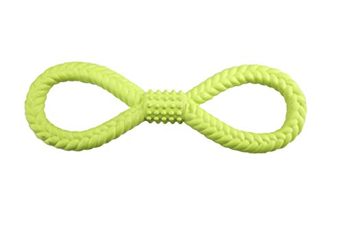 GimDog Gummer Knot Gioco per Cani in Gomma 100% Naturale Aiuta Il Massaggio gengivale e la Pulizia Dentale Ideale per Il Riporto 33cm