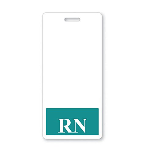 RN Badge Buddy - Heavy Duty Vertical Badge Buddies for Nurses - Spill & Tear Proof Cards - 2 Sided USA Printed Quick Role Identifier ID Tag Backer by Specialist ID