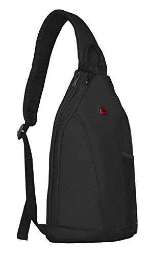 WENGER Unisex Adults' Bc Top Luggage Messenger Bag, Black, L