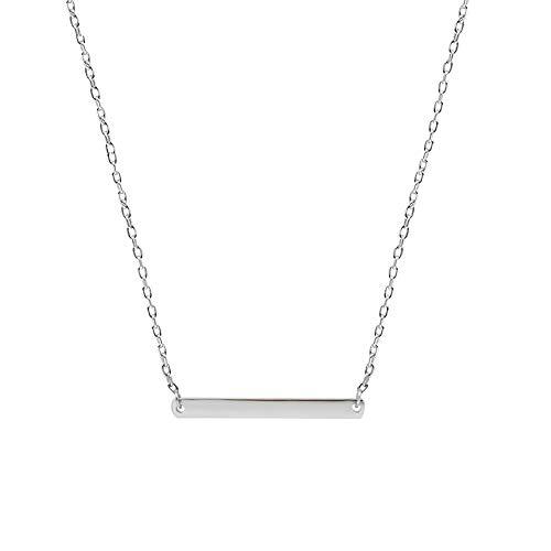 Name oder Nummern S925 Sterling Silber Halskette, benutzerdefinierte Anhänger Halskette, Frauen Valentinstag, Geburtstag, (Size : Customized Lettering)
