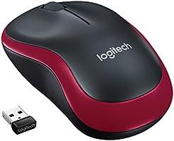 Logitech M185 Draadloze Muis, 2.4 GHz USB mini dongle, Batterijduur 12 maanden, 1000 DPI Optische Tracking, Links-en...
