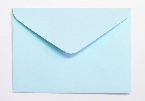 名刺封筒 名刺入封筒 名刺サイズ 封筒 カラー サイズ86×120mm 100枚 パステル ブルー YE131