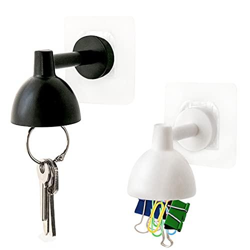 Gancho Llaves Pared, Soporte magnético para llaves, montado en la pared, imán...