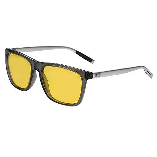 occhiali antiaffaticamento uomo Aroncent Occhiali Outdoor Uomo Donna Guida notturna polarizzati UV 400 Anti-affaticamento Antiriflesso