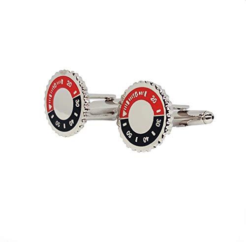 Proton Jewelers Manschettenknöpfe Lünette Submariner Rot und schwarz
