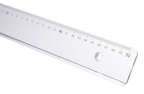 GEOtec Lineal GEOCollege, Kunststoff, 50 cm, transparent