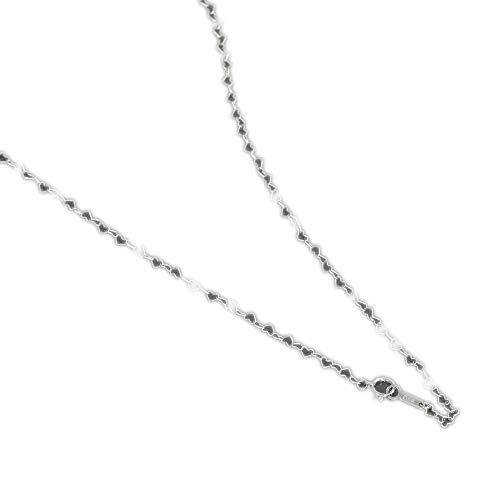[ルビイ] プラチナ Pt850 ハート チェーン ネックレス 幅2.5mm 長さ60cm