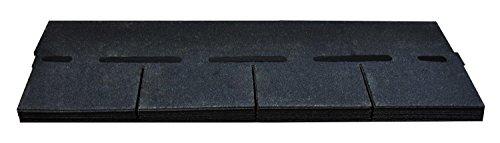 Bitumenschindeln Dachschindeln Rechteck Schindel Dachpappe Bitumen schieferblau gefl. 2,32 m²
