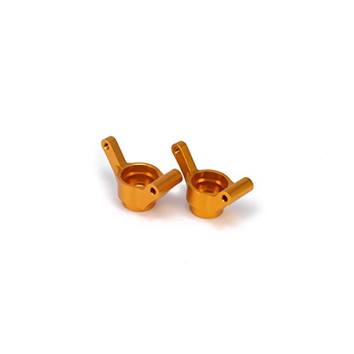 RCAWD Hinterer Hubträger(L/R) M604(23604) Machined Alloy Aluminum for Rc Hobby Model Car 1/18 Himoto E18 Truck Buggy On-Road Upgraded Hop-Up Parts 2Pcs(Gold)