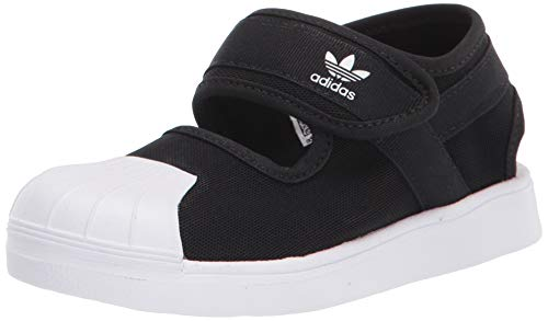 adidas Originals unisex child Sneaker, CBLACK/FTWWHT/FTWWHT, 4 Infant US