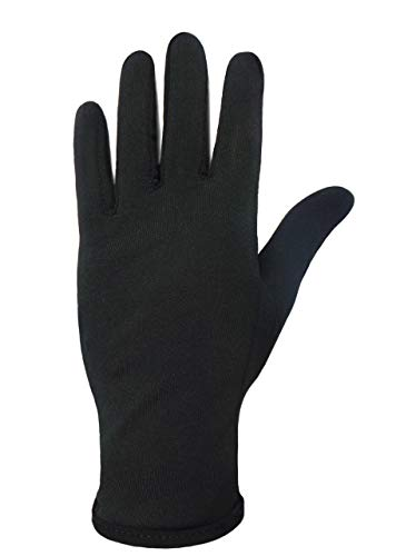 Figure Skating Gloves For Competition and Practice with Gel Wrist Protection (Small, Black)