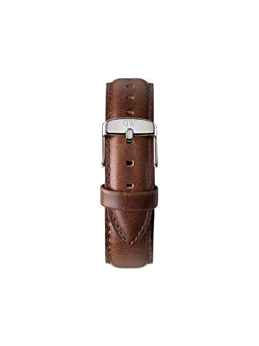 Daniel Wellington Classic Bristol, Dunkelbraun/Silber Uhrenarmband, 20mm, Leder, für Herren
