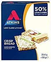 Atkins Low Carb Crispbread Keto Snack High Fibre Low Sugar 20 Pack Box x 6 Estimated Price : £ 13,14
