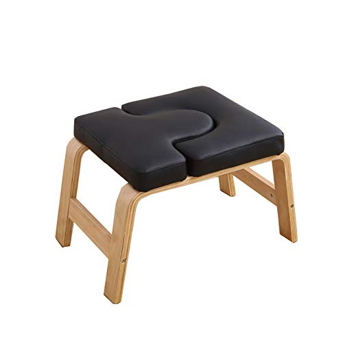 Best Review Of LISI Yoga Headstand Bench, Birch Wood Stand Inversion Chair Training Bench Aids Worko...