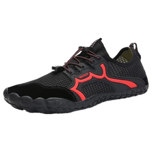DTKJ Zapatos de agua unisex para hombre y mujer, zapatos descalzos, playa, natación, yoga, secado rápido, Black, 42.5 EU