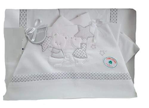 Juego completo compuesto de cuna grande con diseño de búhos debajo de la funda de almohada con fondo blanco, diseños surtidos
