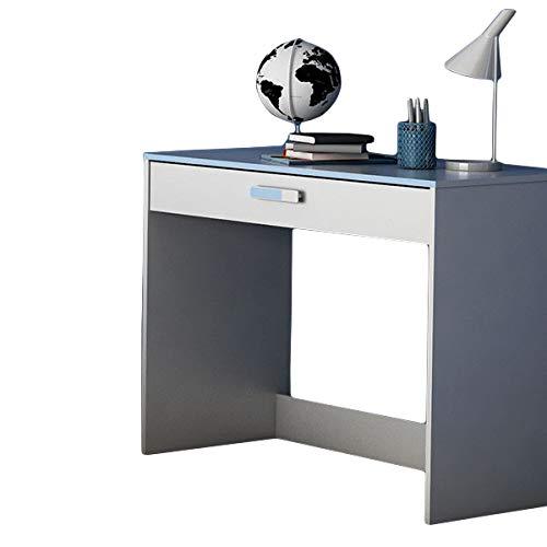 Schreibtisch weiß/blau B 95 cm Holz Computertisch Kinderschreibtisch Jugendschreibtisch Bürotisch Kinderzimmer Jugendzimmer