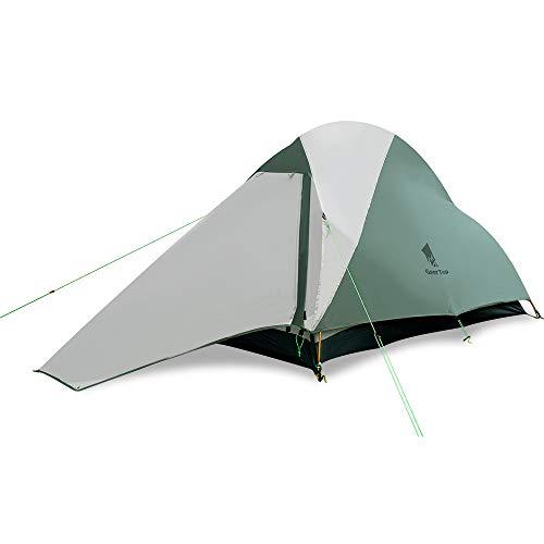GEERTOP Ultraleichtes Campingzelt 1 Person Ultraleichte Zelt 3-4 Saison Leichte wasserdichte Zelte Einfache Einrichtung Freistehendes Kuppelzelt für Trekking, Outdoor, Festival mit kleinem Packmaß