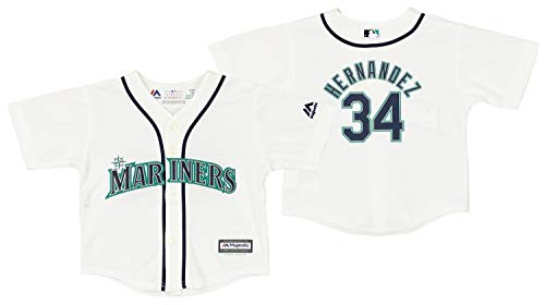 Outerstuff Seattle Mariners Felix Hernandez #34 MLB Baby Boys Infant Cool Base Home Replica Jersey, White 18M