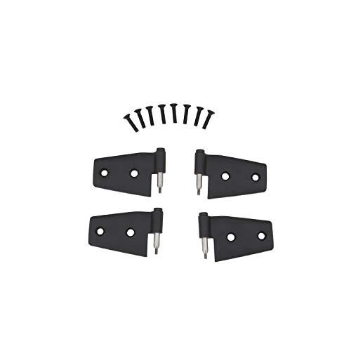 RAMPAGE PRODUCTS 87641 Black Door Hinge, 4 Piece for 2007-2018 Jeep Wrangler JK