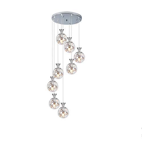 LED esféricos pantalla de cristal cristalina de las lámparas de techo moderna, romántica luz gris oscuro en la Isla de cocina Corredor Cafe lámpara de mesa Decoración de la sala de estar, oro, 10heads