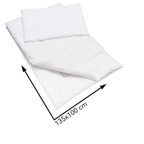 Anti Allergy Duvet & Pillow Set 135x100 cm Baby Cot Quilt 100% Cotton