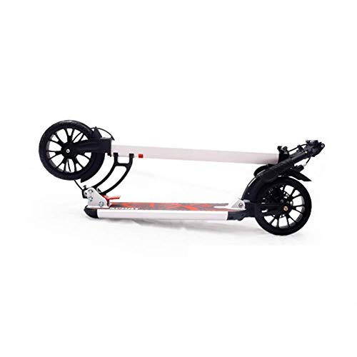 For Sale! HNSYDS Adult/Youth/Children's Scooter Non-Electric Pedal Foldable White with Disc Brake Ma...