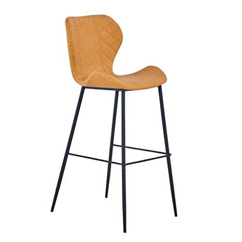 Barhocker Hausbar Einfach Stuhl Hohe Hocker Hochstuhl zu Hause Stuhl (Color : Khaki, Size : 75cm)