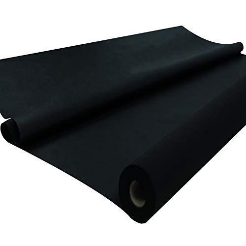 Sensalux Tischdeckenrolle, stoffähnliches Vlies, Oeko-TEX Standard 100 - Klasse I Zertifiziert, Farbe + Größe wählbar (Schwarz, 1,20 m x 25 m)