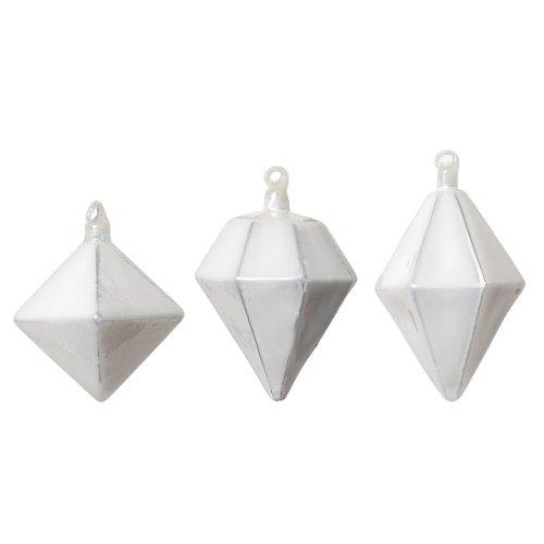 Bloomingville Weihnachtsdekoration, Dekofigur, Hanging Ornament, Ornament, Ornament Chrissy, Silber, 3er Set, Glas