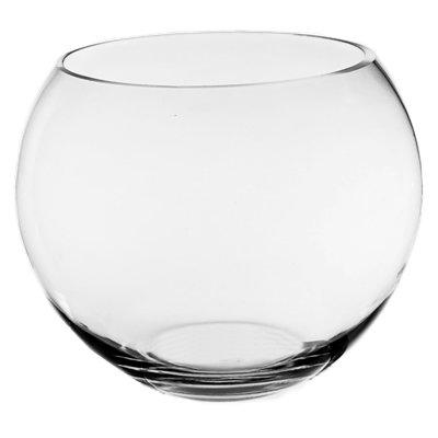 CYS EXCEL Glass Bubble Bowl, Fish Bowl Hand Blown Glass, Body D-10'