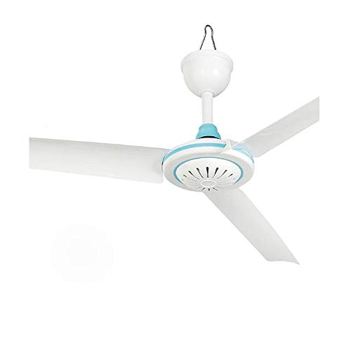 12V Portable Ceiling Fan Hanging Camping Tent Fans for Outdoor Gazebo,Mini DC Battery Powered Fan Energy-Saving Compatible Solar Power Silent Design with Switch