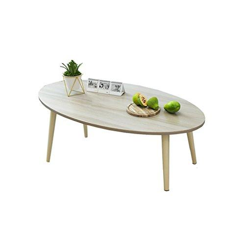 SZQ Table Basse, Creative/Salon/Table Ovale/Table à Thé/Table en Bois Massif/Multi-Fonction/Chambre à Coucher/Table Détachable Métier Exquis (Couleur : B)