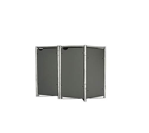 Hide Mülltonnenbox, Mülltonnenverkleidung, Gerätebox grau // 121x63x115 cm (BxTxH) // Aufbewahrungsbox für 2 Mülltonnen 140l