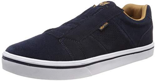 Lico Jimdo Slipper Slip On Sneaker Herren, Marine/ Braun, 43 EU