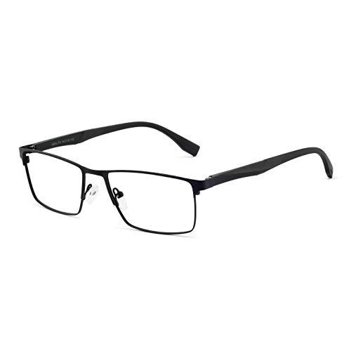 OCCI CHIARI Anti Blue Light Glasses for men - Computer Glasses Men - Black Eyewear Frame - Game Glasses for Men Blocking Blue Glasses Light