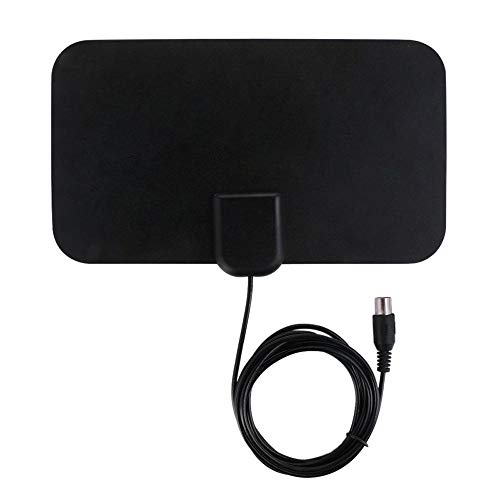 TV Antenna HDTV Flat HD'Digital Indoor Amplified 50-Mile Range TV Compatible with ALUS,Ship from US Warehouse