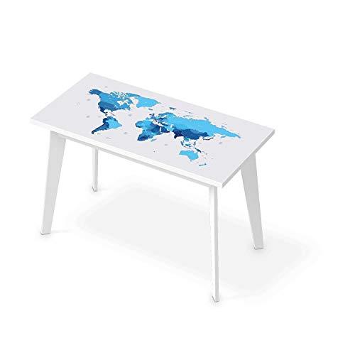 Tisch Designfolie Dekoaufkleber I Klebefolie Sticker Tisch - Möbelfolie abwaschbar I Dekor Wohnzimmertisch - Design: Politische Weltkarte