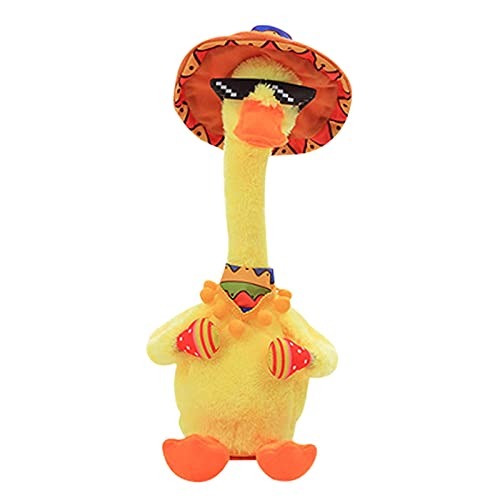 BBVP Early Childhood Education Toys,Electronic Shake Singing Dancing Stuffed Doll Plush Toys with colorful LED lighting,Creative Toys Gifts for Kids Home Ornament (Cactus ,Ducky )