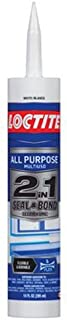 Loctite 2-In-1 All Purpose Adhesive Caulk, 10 Ounce Cartridge, Clear (1936462)
