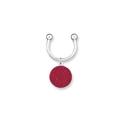 ICE CARATS Red Swarovski Crystal Key Band Ring Size Money Clip Wallet Fashion Jewellery for Dad Mens Gifts for Him