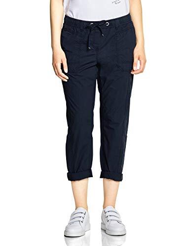 CECIL Damen 372200 Jessy Papertouch Hose per pack Blau (deep blue 10128), W28/L26(Herstellergröße:28)