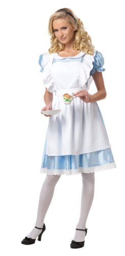 California Costumes Women's Alice Costume,White/Blue, Medium